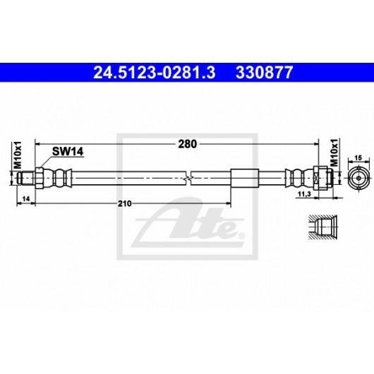 ATE 24.5123-0281.3 Bremsschlauch