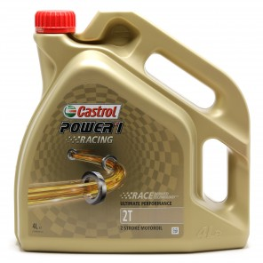 Castrol Power 1 Racing 2T vollsynthetisches Motorrad Motoröl 4l Kanne