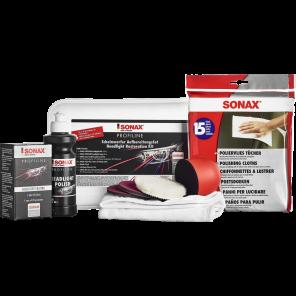 SONAX 04057410 - Aufbereitungs-Set, Scheinwerfer - PROFILINE ScheinwerferAufbereitungsSet