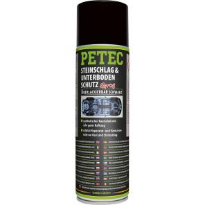 Petec Steinschlag-& Unterbodenschutz Kautschukbasis, Überlackierbar schwarz 500ml Spray