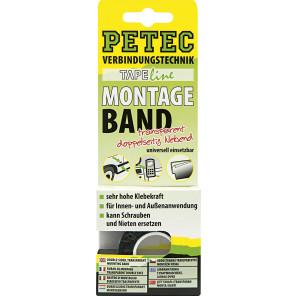Petec POWER Montageband, transparent 2m x 19mm