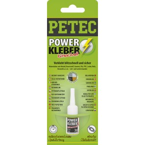 Petec POWER Kleber 3g (Profi Superkleber)