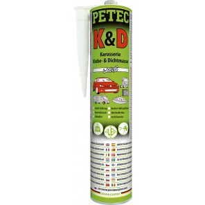 Petec K&D Karosserie Klebe- und Dichtmasse 310ml, weiß