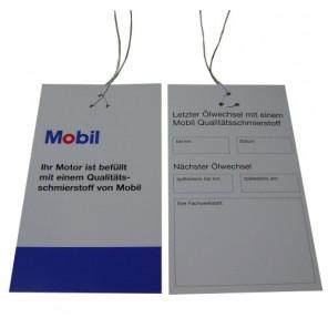 Mobil1 Ölzettel Anhänger 1Stk.