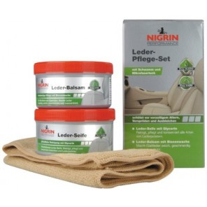 Nigrin Performance Leder-Pflege-Set Seife+Balsam