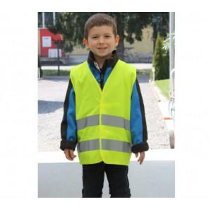 Sicherheitsweste gelb Größe S für Kinder 7 - 10 Jahre