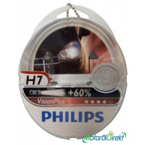 Philips H7 12V 55W PX26d Vision Plus +60% 2st.