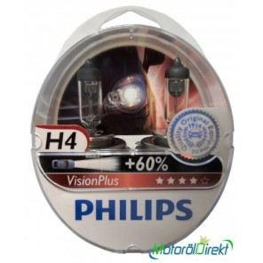 Philips H4 12V 60/55W P43t Vision Plus +60% 2st.