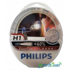 Philips H1 12V 55W P14,5s Vision Plus +60% 2st.