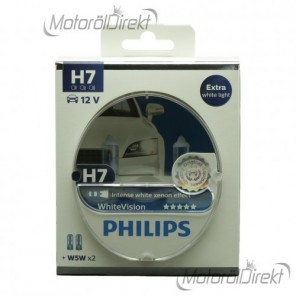 Philips H7 12V 55W PX26d WhiteVision 2st. + 2xW5W