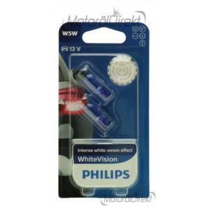 Philps W5W 12V 5W W2,1x9,5d White Vision 2st.