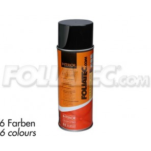 Foliatec INTERIOR Color Spray, schwarz glänzend 400ml