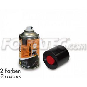 Foliatec Auspuff 2K Lackspray, schwarz glänzend