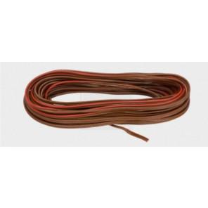 PVC Lautsprecherleitung 2x0,75 mm², braun/rot 10Stk.