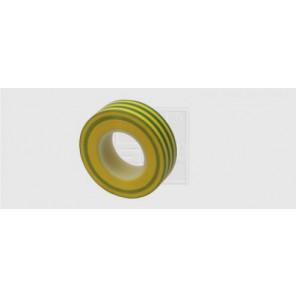 Kunststoffisolierband 15 mm x 10 m x 0,15 mm, gelb-grün