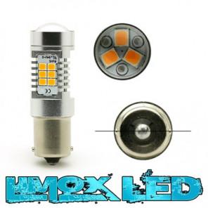 LED Lampe BA15S P21W 4G Technik Orange