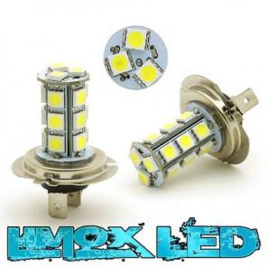 LED Nebelscheinwerfer Birne Lampe H7 18x 5050 SMD Xenon Weiß