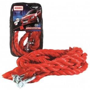 Abschleppseil 4000 Kg - Polypropylene mit Zipperbag Rot