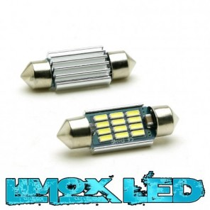 LED Soffitte C5W 39mm 12x 4014 SMD Weiß