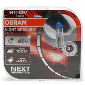 Osram H1 NIGHT BREAKER® LASER Next Generation 12V 55W P14,5s Duobox