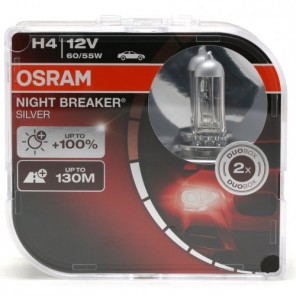 Osram H4 NIGHT BREAKER® SILVER 12V 60/55W P43t Duobox