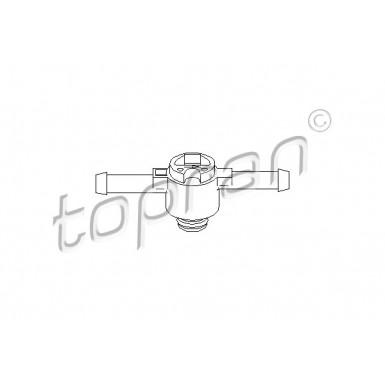108 643 TOPRAN Ventil f/ür Kraftstofffilter